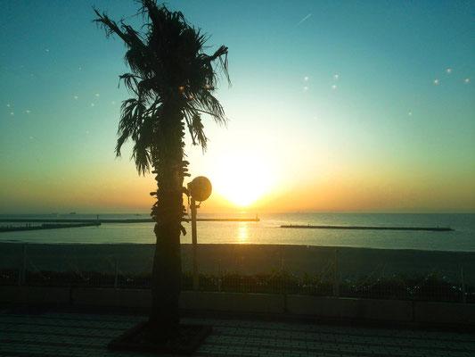 2日間とも夕日をゆっくり見れました