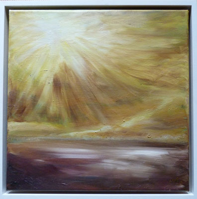 The Gentle Light that wakes me  Oil painting inspired by Phil Cunningham tune