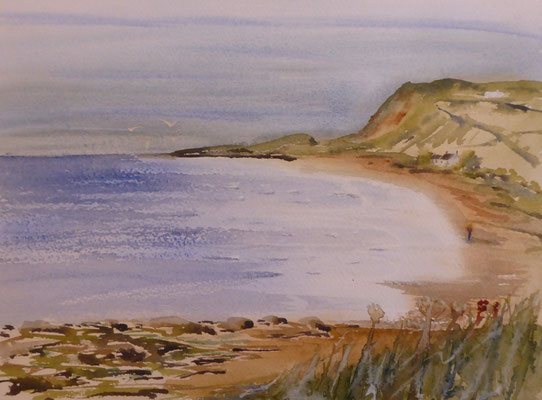 Highland Beach , Watercolour also available in other items i.e.mugs,mats