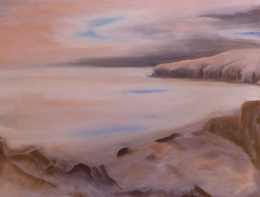 Caithness coast , Oil Painting on canvas