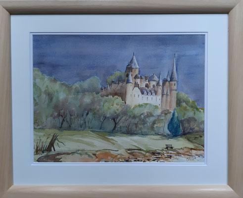 Dunrobin Castle, Watercolour 55x45 cms