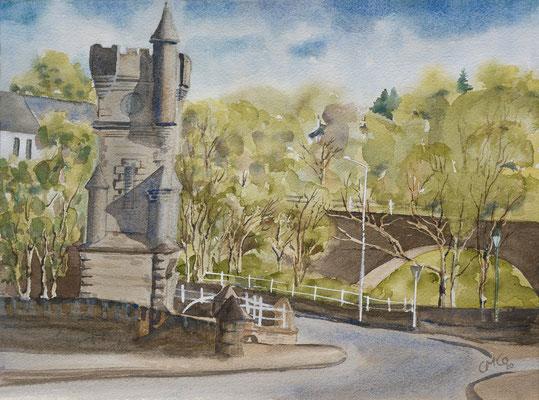 Brora War Memorial, Watercolour unframed