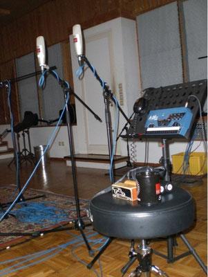 Percussionaufnahme in den Principal Studios