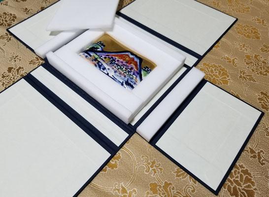 陶板ケース・四方帙にフォーム材を併用した例