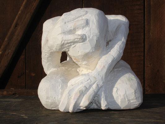 Der Denker, 30x30 cm, Gips