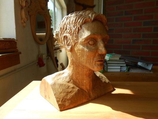 Holzbüste, 30x30 cm