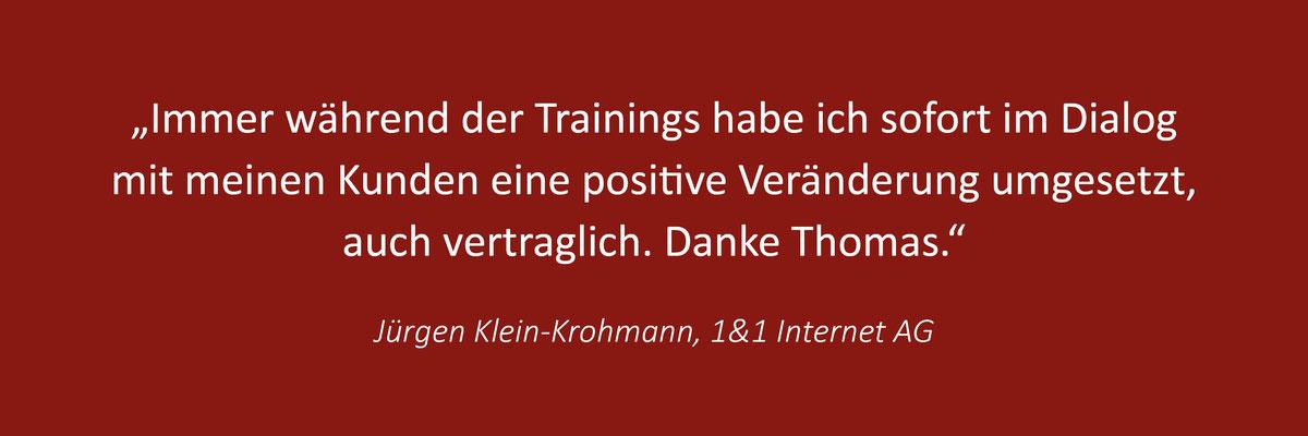 Kundenstimmen zum Telefontraining von Thomas Pelzl