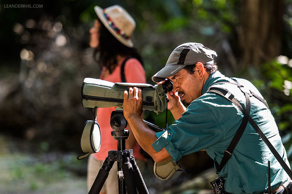 On birding tour with one of the lodge's guides