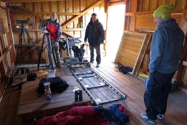 Setup of the opening scene.