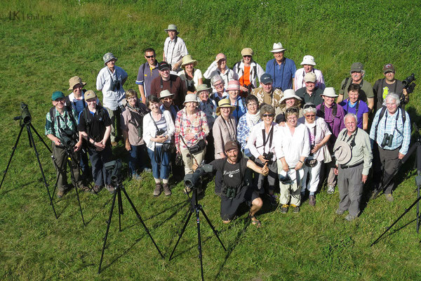 The group of Irish birdwatchers from BirdWatch Ireland, South Dublin Branch