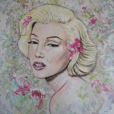 MARILYN, Acryl, Mixed Media, 50 x 50 cm 130 Euro