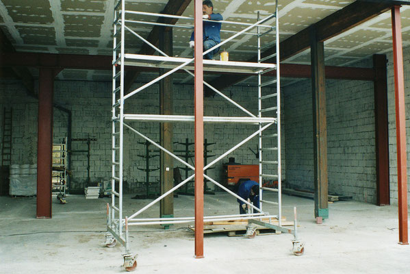 biegesteifer Rahmen in Gewerbehalle