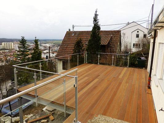 Terrasse am Hang