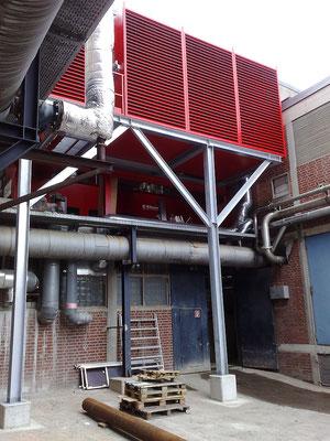 Stahlbau für Technikkontainer
