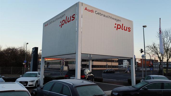 Reklameturm Audi Stuttgart