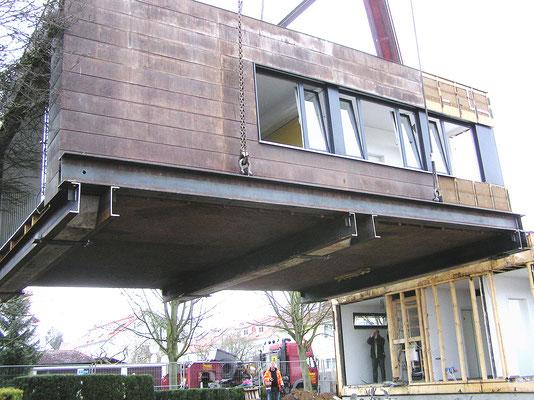 Hebekonstruktion für Holzkontainer