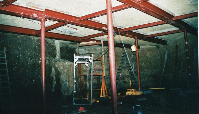 Absprießung Kellergewölbe