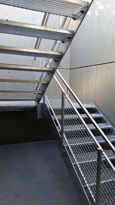 Zugangstreppe Tiefgarage