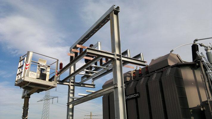 Stahlbau für Umspannwerk