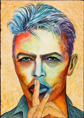 DAVID BOWIE Nr.1; 70x50 cm; Acryl auf Leinen (Original nicht mehr erhältlich)