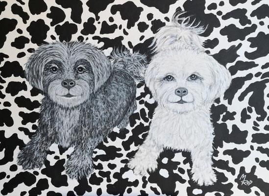 BELLA & LENI; 50x70 cm; Ghesso auf Leinen (Original nicht mehr erhältlich)