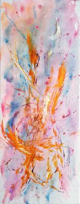 DANCING STARS; 58x25 cm; Acryl auf Leinen (Original nicht mehr erhältlich)