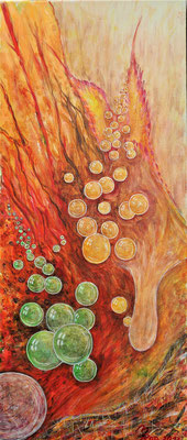 BUTTERFLY PEARLS; 58x25 cm; Acryl auf Leinen; Preis € 150,-