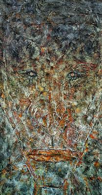 AMORPHOUS V; 60x30 cm; Mixed Media auf Leinen; Preis € 200,-
