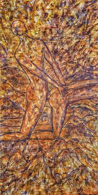 SATYRIASIS; 80x40 cm; Acryl auf Leinen (Original nicht mehr erhältlich)