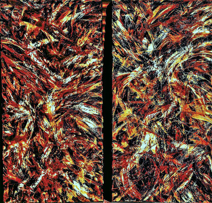 HELLBALL; beide je 30x60 cm; Öl (Original nicht mehr erhältlich)