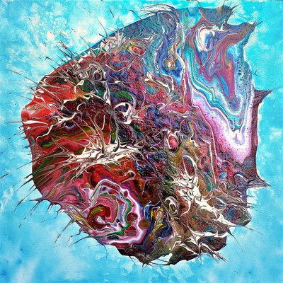 DOCTOR FISH; 40x40 cm; Liquid Acryl auf Leinen; Preis € 150,-