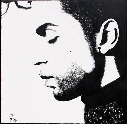 PRINCE ROGERS NELSON Nr 1; 80x80 cm; Ghesso auf Leinen (Original nicht mehr erhältlich)