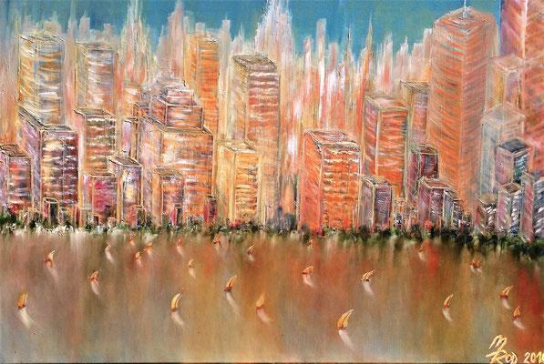 N'YORK REGATTA; 70x100 cm; Öl (Original nicht mehr erhältlich)