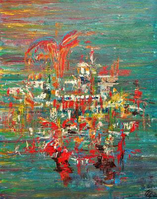 SPRINGFIELD; 100x80 cm; Acryl auf Leinen; Preis € 430,-