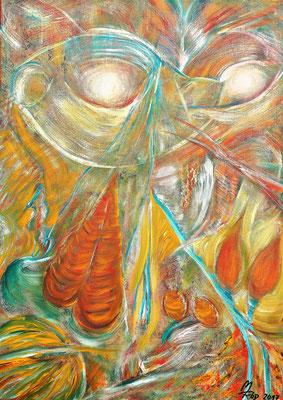 MASQUERADE; 70x50 cm; Acryl auf Leinen; Preis € 300,-