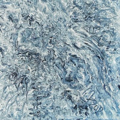 FLUXATION; 40x40 cm; Liquid Acryl auf Leinen; Preis € 150,-