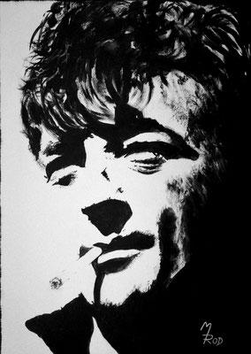 ROBERT MITCHUM; 70x50 cm; Ghesso auf Leinen; Preis € 360,-