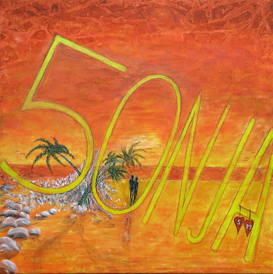 50NJA; 50x70 cm; Acryl auf Leinen (Original nicht mehr erhältlich)