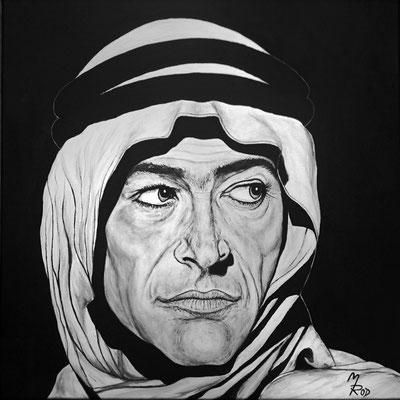 """PETER O'TOOLE (""""Lawrence von Arabien""""); 60x60 cm; Ghesso auf Leinen (Original nicht mehr erhältlich)"""