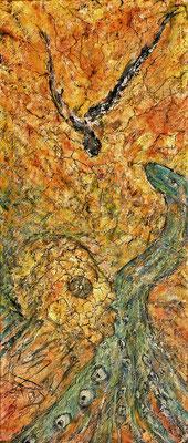 AMORPHOUS II; 58x25 cm; Mixed Media auf Leinen; Preis € 200,-