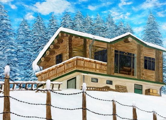 FARM HOUSE; 58x76 cm; Öl auf Leinen (Original nicht mehr erhältlich)