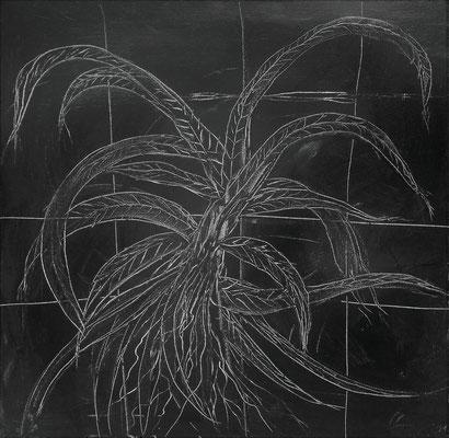 PLANT CAGE; 60x60 cm; Acryl auf Leinen; Preis € 300,-