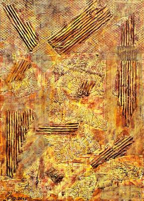 MILL RUIN; 70x50 cm; Acryl auf Tapete; Preis € 300,-
