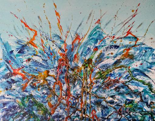 FROG POND; 60x80 cm; Acryl auf Leinen (Original nicht mehr erhältlich)