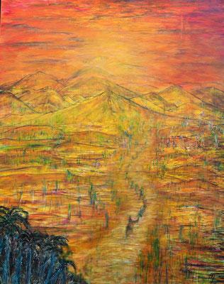 CARAVANIA; 100x80 cm; Acryl auf Leinen; Preis € 430,-