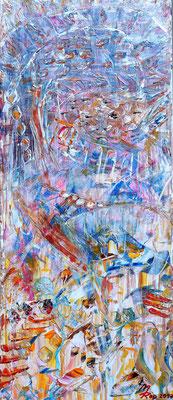 CIRCUS; 58x25 cm; Acryl auf Leinen; Preis € 150,-