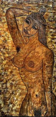 NYMPHOMANIA; 80x40 cm; Acryl auf Leinen (Original nicht mehr erhältlich)