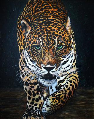 JAGUAR; 100x80 cm; Acryl auf Leinen (Original nicht mehr erhältlich)