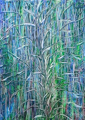 BLUE GRAIN; 70x50 cm; Acryl (Original nicht mehr erhältlich)