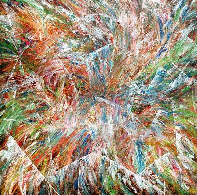 MOSAICO; 100x100 cm; Öl (Original nicht mehr erhältlich)